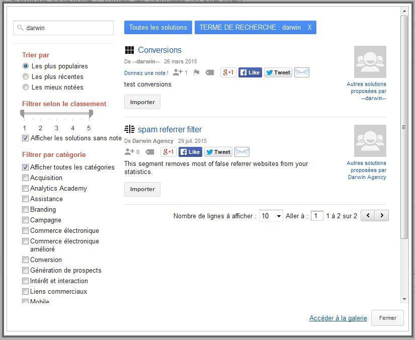 "Choisir le segment ""spam referrer filter. »"
