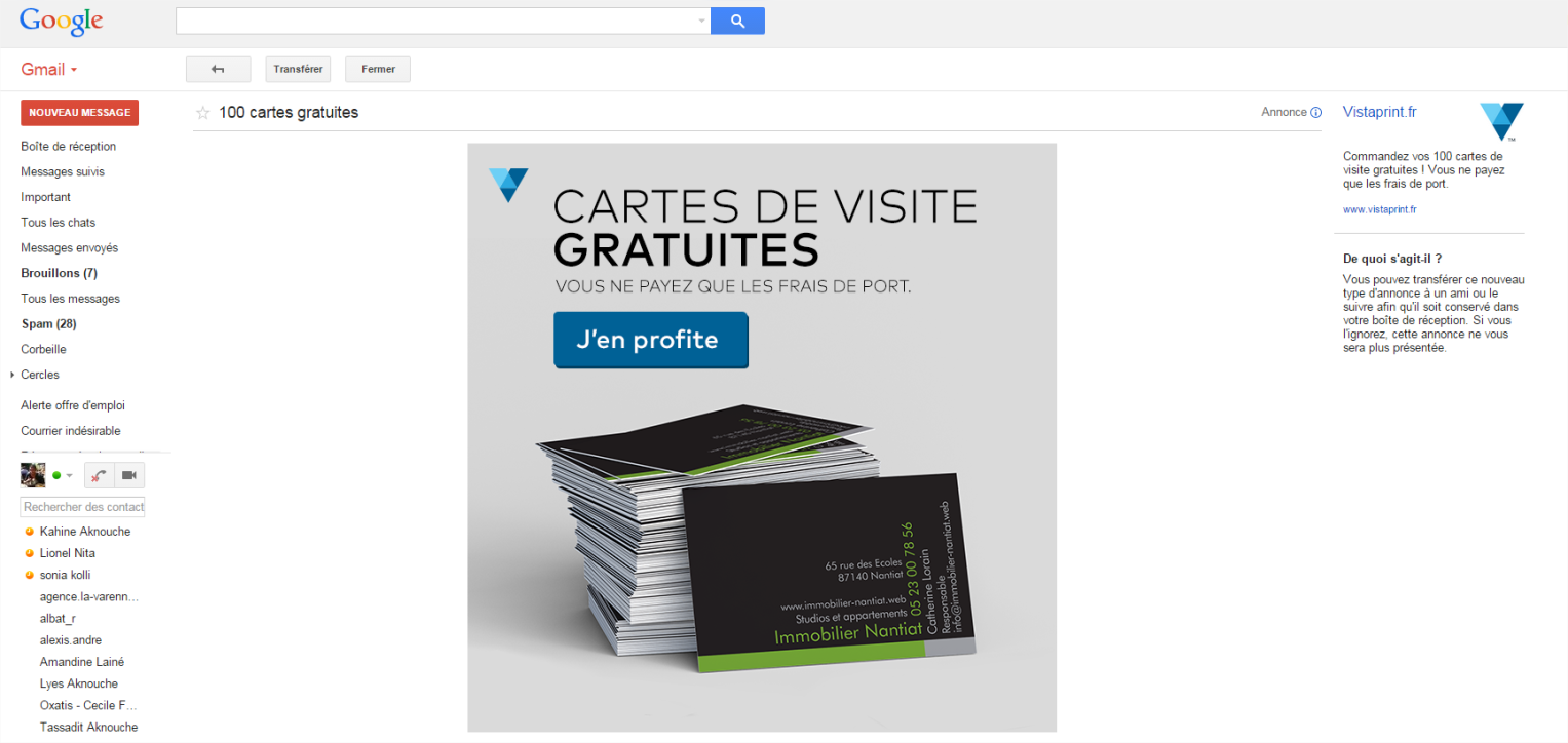 Exemple d'Expanded Ad